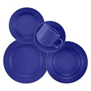 1 Aparelho de Jantar e Chá 20 Peças Biona Donna Azul Azul