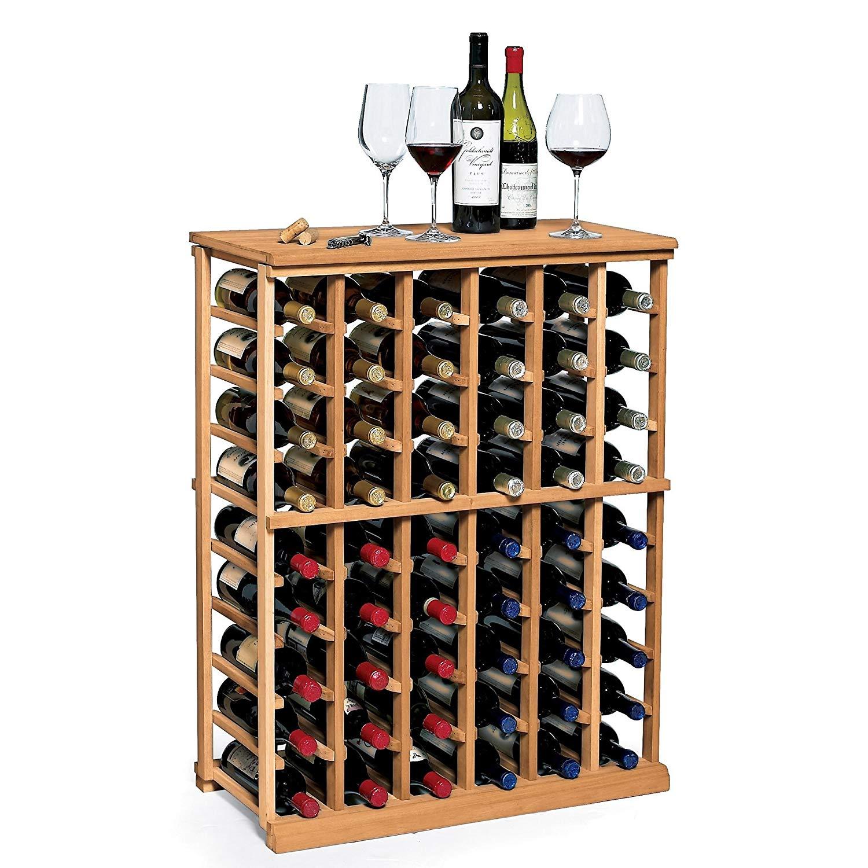 Adega 100% Madeira maciça 60 Garrafas Vinho 30 Garrafas Espumantes