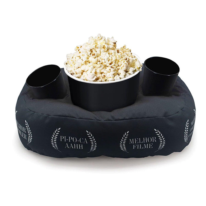 Almofada Porta Pipoca - Cinema em Casa