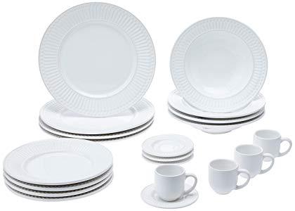Aparelho De Jantar 20 Peças Roma Branco