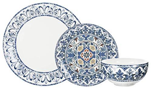 Aparelho Jantar Porcelana 18 Peças Kafel L'Hermitage Multicor