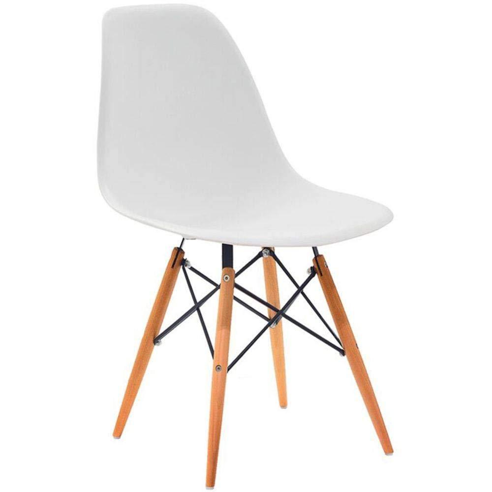 Cadeira em Abs Pw-071 Branca Pelegrin com Design Charles Eames Dkr Eiffel