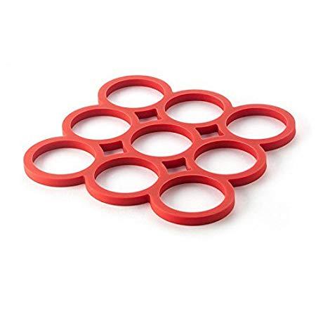 Descanso de Panela Sanremo Vermelho plástico