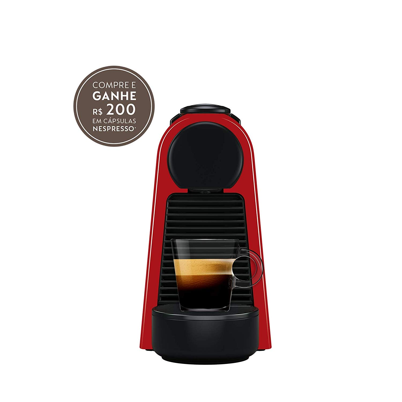 Nespresso Essenza Mini, Máquina de Café, 110V, Vermelho