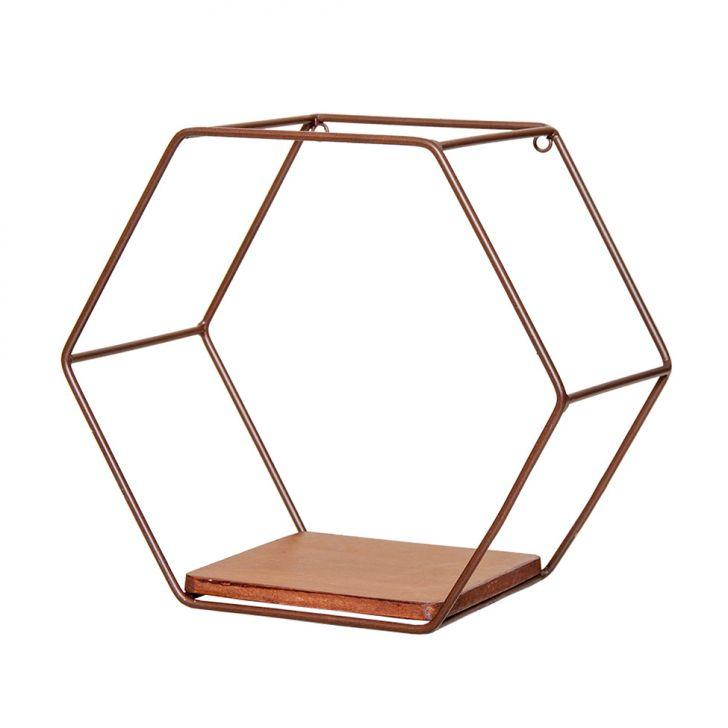 Nicho Hexagonal Katarine Marrom