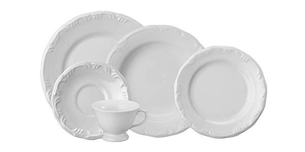 Porcelana Schmidt 0578-9 Serviço De Jantar E Chá, Branco, 20 peças