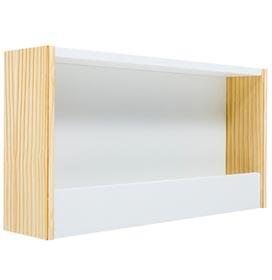 Prateleira para Livros Cookie Branco e Pinus - FS Design