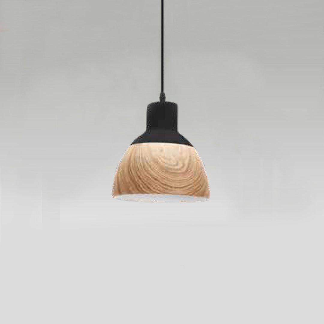 Quality, QPD1208, Pendente Cerâmica, 40W, Preto/Amadeirado