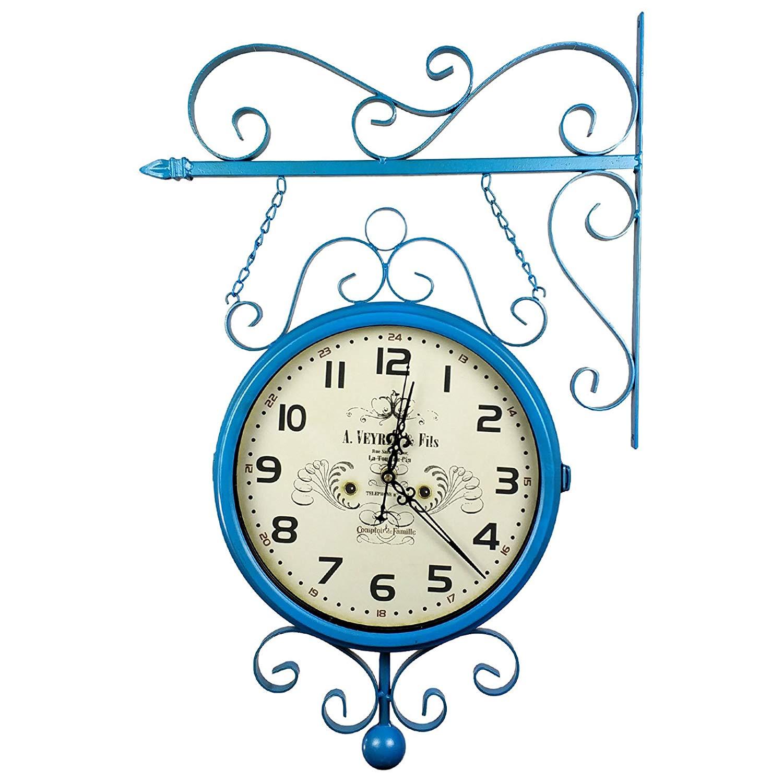 Relógio de Parede Face Dupla para Decoração Estilo Estação Antiga de Trem La Tour Du Pin, France