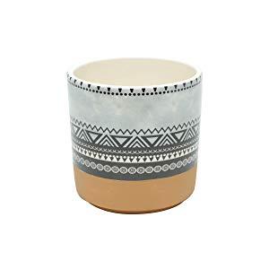 Vaso Cerâmica Aztec Triangles Gde Urban Colorido Cerâmica
