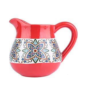 Vaso de Cerâmica Jar Floral Vintage Urban Vermelho