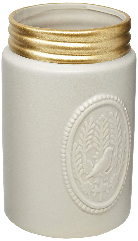 Vaso em Cerâmica Moas Cinza
