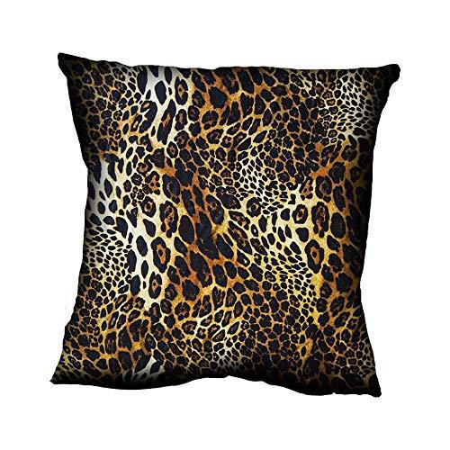 Almofada Impressão Digital Marrom Animal Print leopardo MA 42x42cm