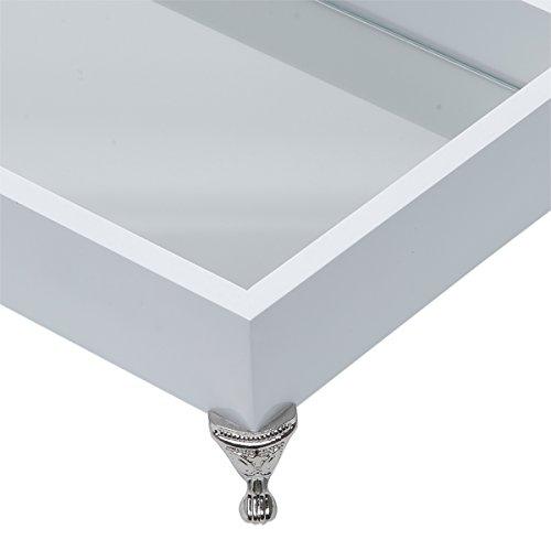 Bandeja de Madeira com Espelho Rojemac Branco