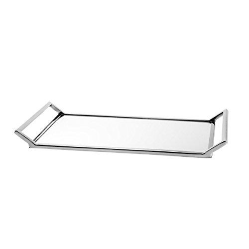 Bandeja Delhi Mirror Pequeno - com Fundo Espelhado - em Metal - Wolff - 40x20 cm
