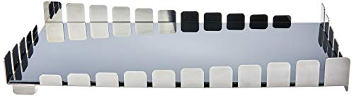Bandeja Piano Bar Retangular Carbon com Vidro Preto Riva Preto