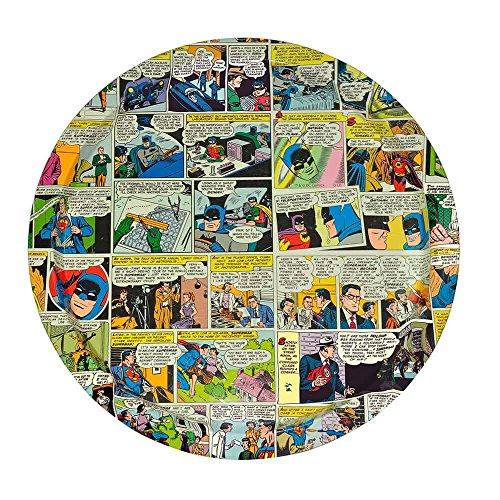 Bandeja Redonda Quadrinhos DC Colorido em Metal - Urban - 35 cm