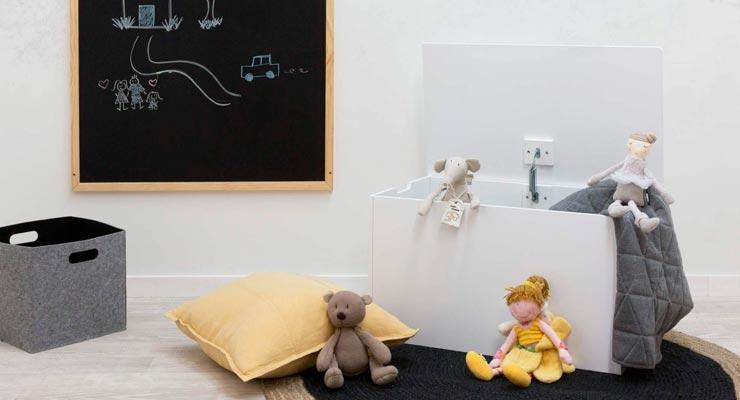 Baú Caixa de Brinquedos Para Quarto de Criança