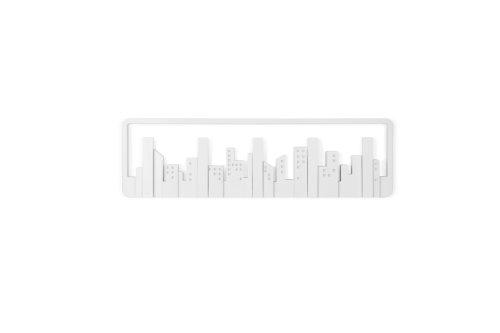 Cabideiro de Parede Skyline em Poliestireno, Umbra, Branco