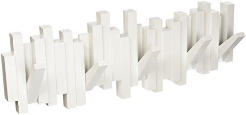 Cabideiro De Parede Sticks Cor Branco Em Plastico Umbra Branco