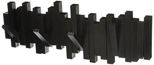 Cabideiro De Parede Sticks Cor Preto Em Plastico Umbra Preto