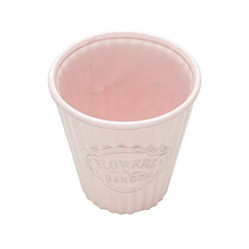 Cachepot de Cerâmica Cute Pleat Bucket Urban Rosa