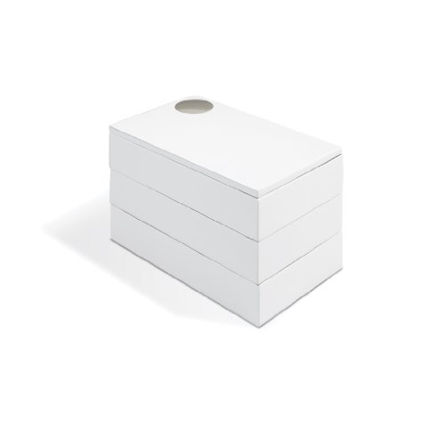 Caixa Porta Bijoux Spindle Branco Umbra