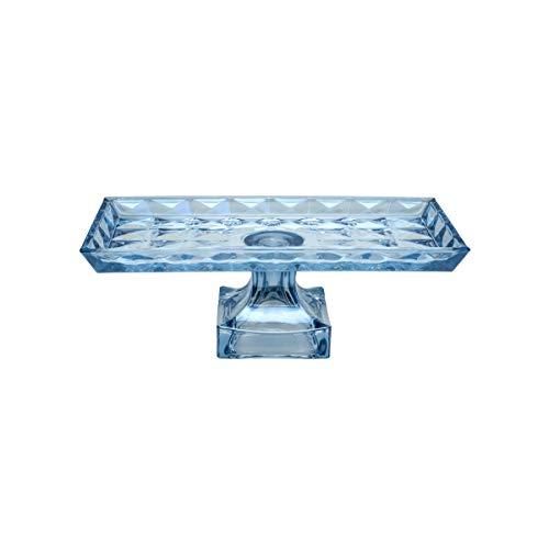 Centro de Mesa de Cristal de Chumbo com Pé Diamant, Rojemac, Azul