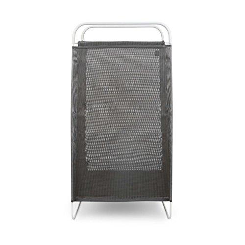 Cesto de roupa de aço inox Cinch Laundry Umbra preto 75,5 x 40,5 x 28,5 cm - 26848