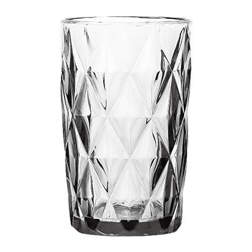 Conjunto 6 Copos Altos de Vidro Diamond Lyor Transparente 330Ml