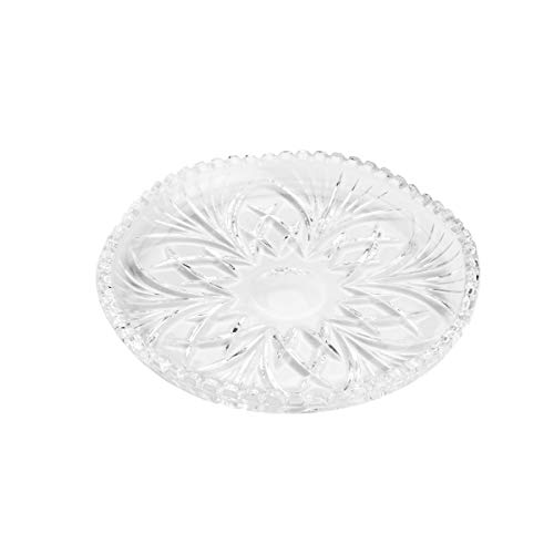 Conjunto 6 Pratos para Bolo de Cristal de Chumbo Alberta Lyor Transparente 19Cm