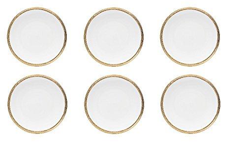 Conjunto 6 Pratos Rasos De Porcelana Durable Porcelain Paddy 27cm Wolff Paddy Única