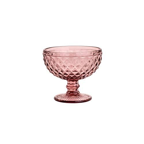 Conjunto 6 Taças de Vidro Bico de Abacaxi Lyor Lilás 310Ml