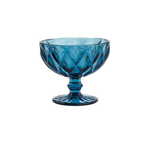 Conjunto 6 Taças de Vidro Diamond Lyor Azul 310Ml