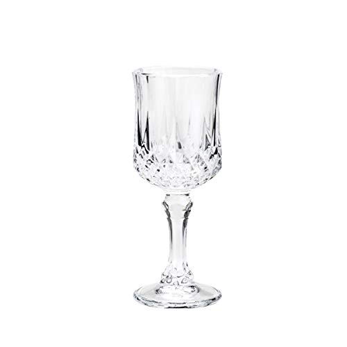 Conjunto 6 Taças para Licor de Vidro Diamante Lyor Transparente 60Ml