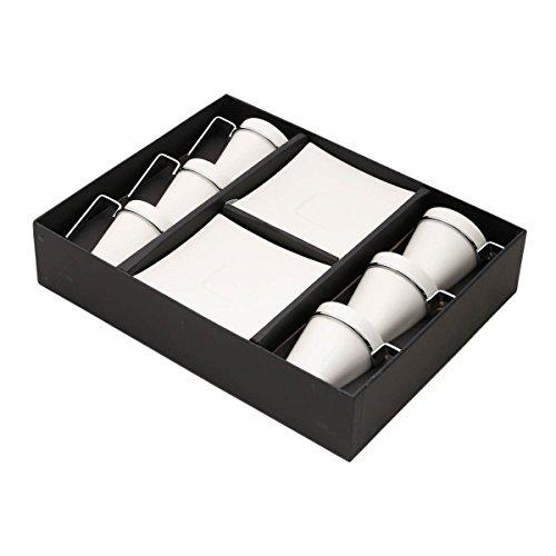 Conjunto 6 Xícaras de Porcelana para Café com Píres Spril, Wolff, Indef, Única, 80 ml