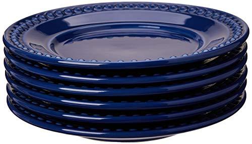 Conjunto Com 6 Pratos De Sobremesa Atenas Azul Navy