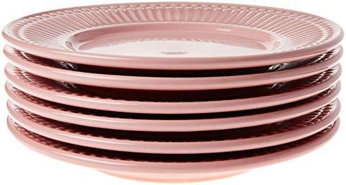 Conjunto Com 6 Pratos De Sobremesa Roma Rosa