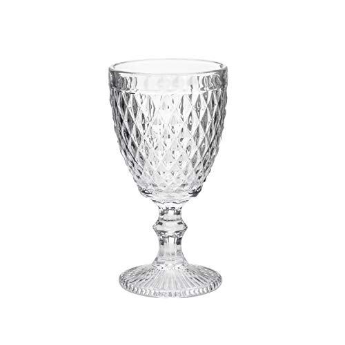 Conjunto Deunto 6 Taças para Vinho Bico de Abacaxi Lyor Transparente 210 ml Vidro
