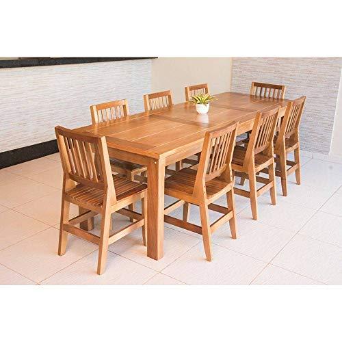Conjunto Mesa De Jantar Mineirinha 2,50m Com 8 Cadeiras Confort Em Madeira De Lei Maciça