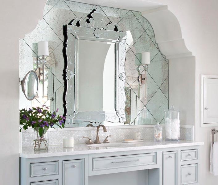Decoração Com Espelho Veneziano Sobreposto