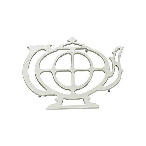 Descanso P/panelas De Zamac Silver Plated Teapot 21x18,5cm Lyor Prata No Voltagev