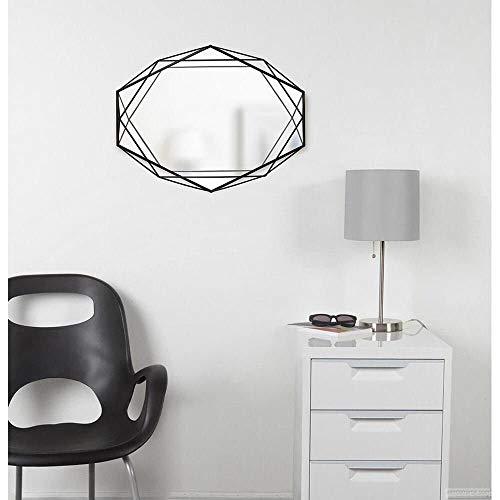 Espelho Com Moldura Em Metal Prisma Cor Preto - Dimensoes C 57.2 X L 43.2 X A 9.5 Cm Umbra Preto