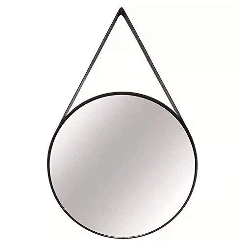 Espelho Em Metal Na Cor Preta Mart Preto