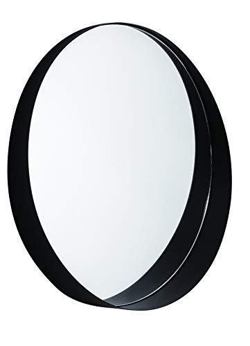 Espelho Preto Em Metal Mart Preta
