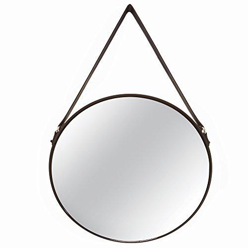 Espelho Preto em Metal, Mart, Preto