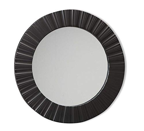 Espelho Redondo Sofis Etna Preto 50cm
