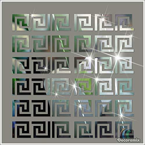 Espelhos Decorativos Labirinto De Parede Kit Com 10 Peças