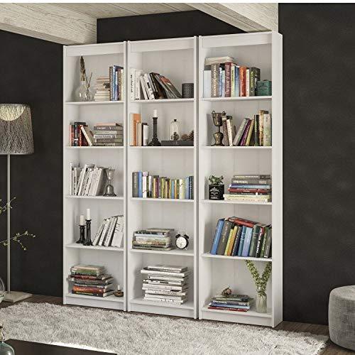 Estante para Livros Modular Biblioteca Siena Móveis Branco
