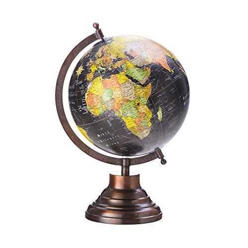 Globo Decorativo de Plástico com Base de Ferro Lyor Preto 20.3 cm